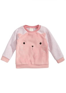 First Impressions Baby Girls Minky Kitty Faux-Fur Sweatshirt, Created for Macy's