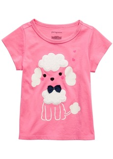 First Impressions Baby Girls Poodle-Print T-Shirt With Faux-Sherpa Trim, Created for Macy's