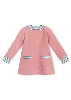 First Impressions Baby Girls Quilted Dot Dress, Created for Macy's