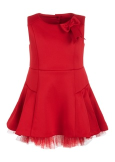 First Impressions Baby Girls Scuba Tulle Dress, Created for Macy's