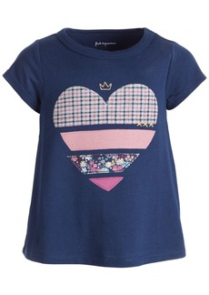 First Impressions Baby Girls Short Sleeve Multi Heart Tee, Created for Macy's