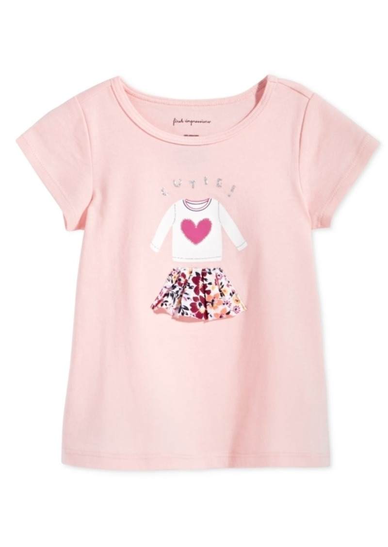 73085ba25 First Impressions Toddler Girls Skirt-Print Cotton T-Shirt, Created for  Macy's