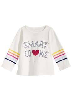 First Impressions Baby Girls Smart Cookie-Print Cotton T-Shirt, Created for Macy's