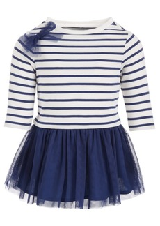 First Impressions Baby Girls Stripe & Tulle Dress, Created for Macy's
