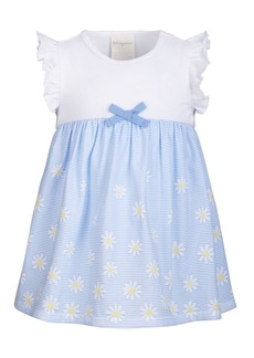 First Impressions Baby Girls Striped Daisy-Print Dress, Created for Macy's