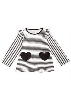 First Impressions Baby Girls Striped Hearts Tunic, Created for Macy's