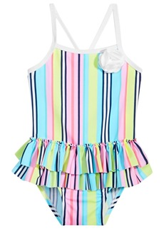 First Impressions Baby Girls Striped Swimsuit, Created for Macy's