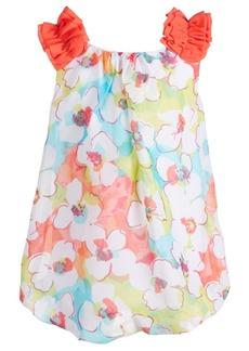 ddbd7ccdcb First Impressions Baby Girls Tropical-Print Bubble Dress
