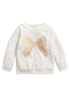 First Impressions Toddler Girls Bow Velour Top, Created for Macy's