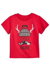 First Impressions Chill Dude-Print Cotton T-Shirt, Baby Boys, Created for Macy's
