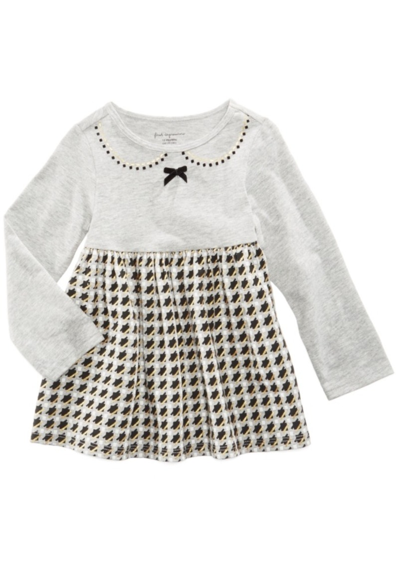 8307c6787 Cotton Houndstooth Babydoll Tunic, Baby Girls (0-24 months), Created for  Macy's. First Impressions