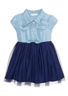 First Impressions Denim & Tulle Dress, Baby Girls, Created for Macy's