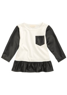 First Impressions Faux-Leather Glam Tunic, Baby Girls, Created for Macy's