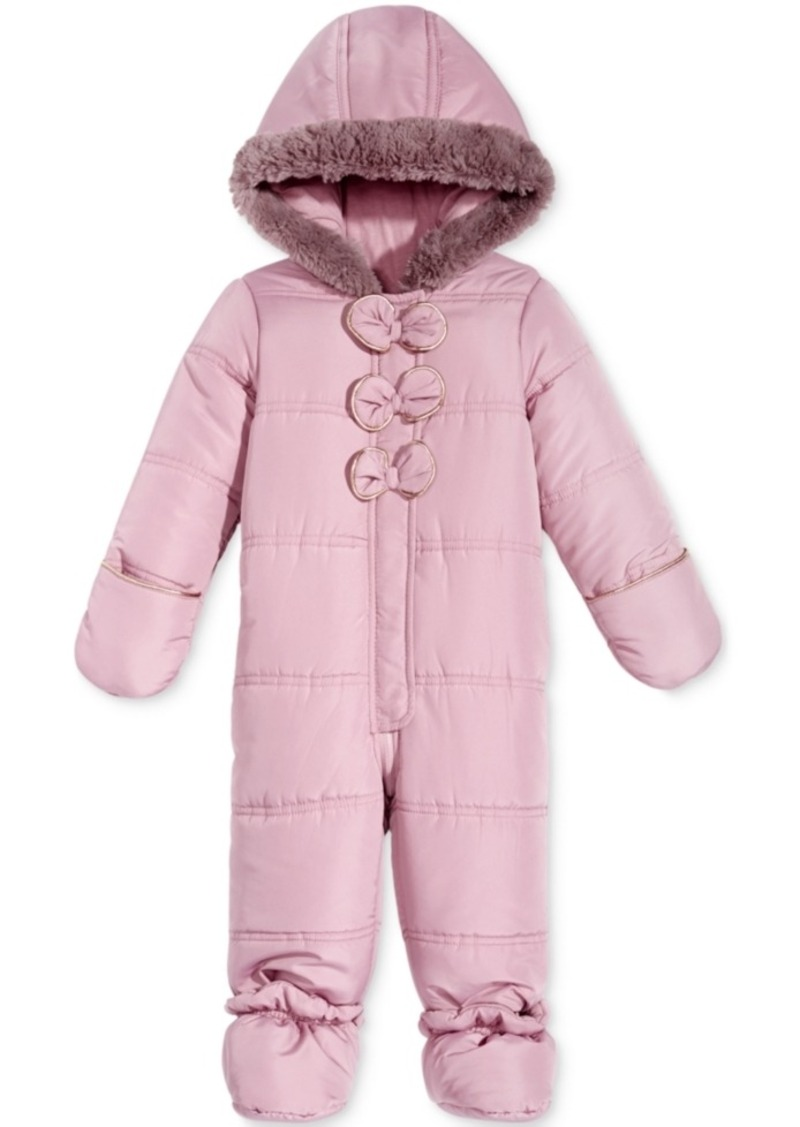 23821609a First Impressions First Impressions Footed Snowsuit with Faux Fur ...
