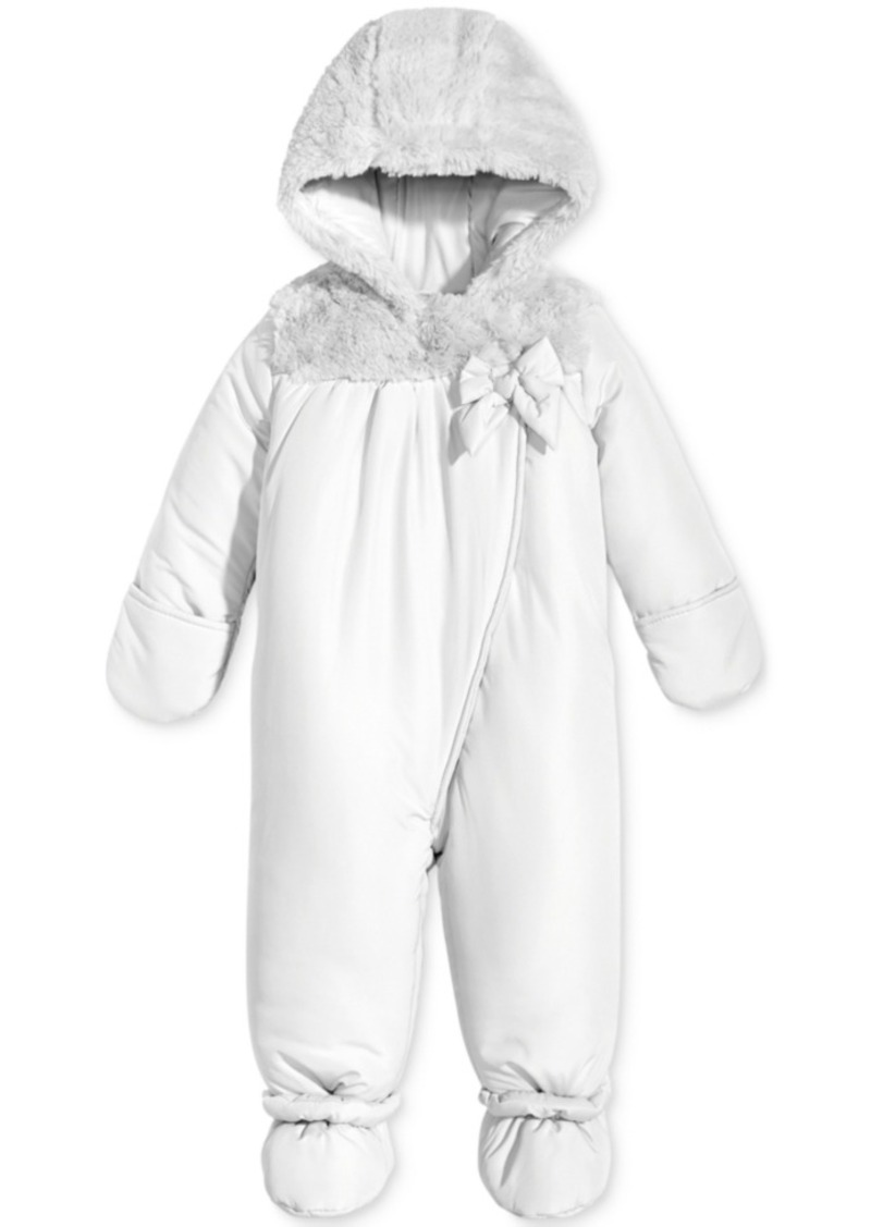 518943016722 First Impressions First Impressions Footed Snowsuit with Faux Fur ...