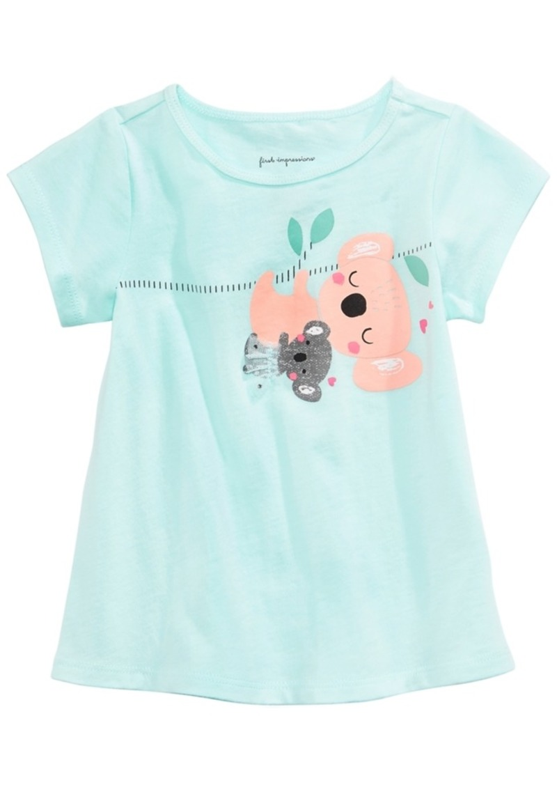 51c415763 First Impressions Graphic-Print Cotton T-Shirt, Baby Girls, Created for  Macy's
