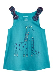 First Impressions Graphic-Print Cotton Top, Baby Girls, Created for Macy's