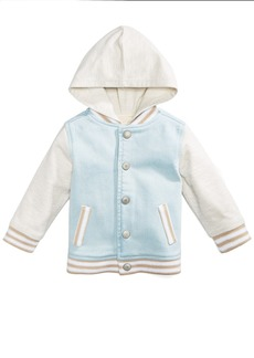 First Impressions Hooded Denim Varsity Jacket, Baby Boys, Created for Macy's