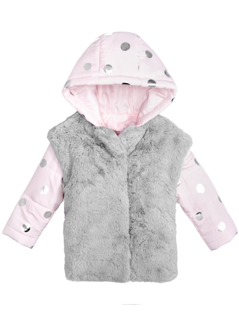 a1b22b553 First Impressions Hooded Puffer Jacket with Faux-Fur Vest, Baby Girls,  Created for