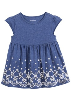 First Impressions Lace-Print Cotton Tunic, Baby Girls, Created for Macy's