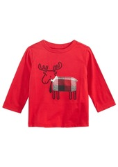 First Impressions Moose-Print Cotton T-Shirt, Baby Boys, Created for Macy's