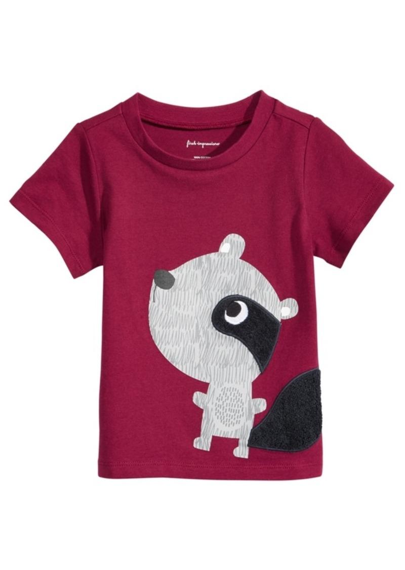 99c121c62358 First Impressions First Impressions Raccoon-Print Cotton T-Shirt ...