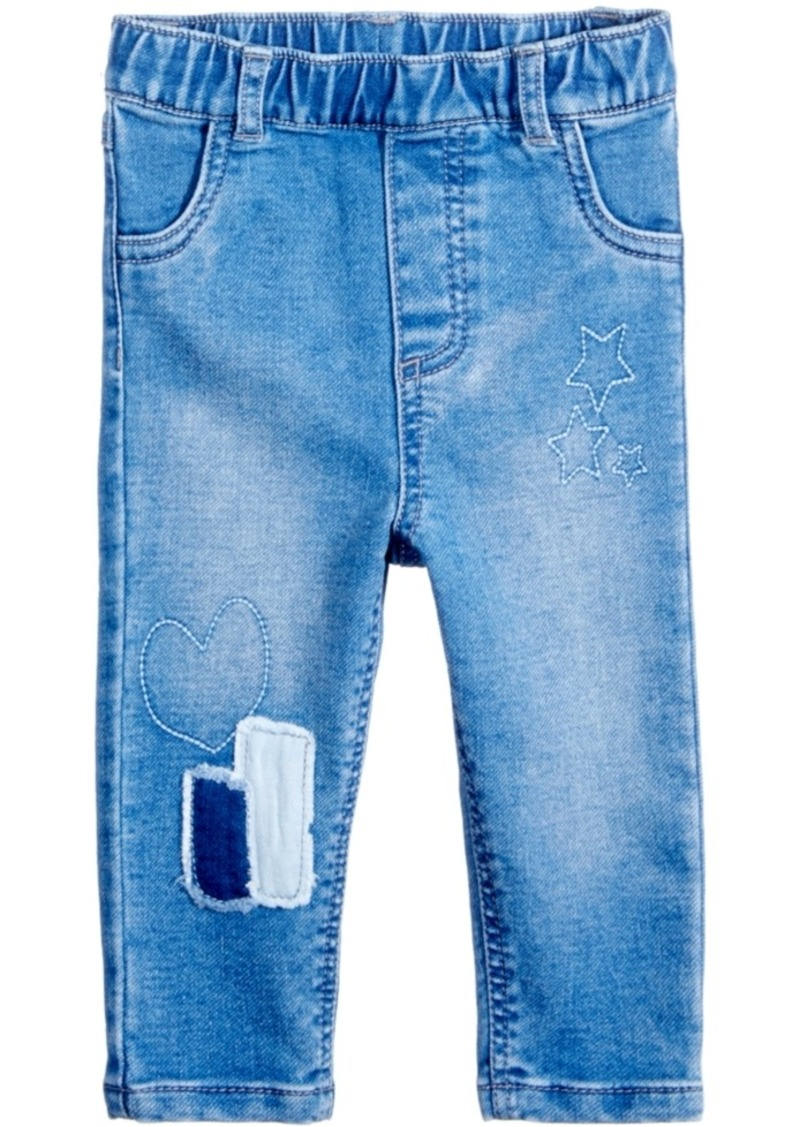 Girls Stretchy Jeans Kids Blue Denim Ripped Pants Frayed Trousers Age 5-13 Year