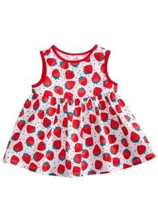 First Impressions Strawberry-Print Cotton Top, Baby Girls, Created for Macy's