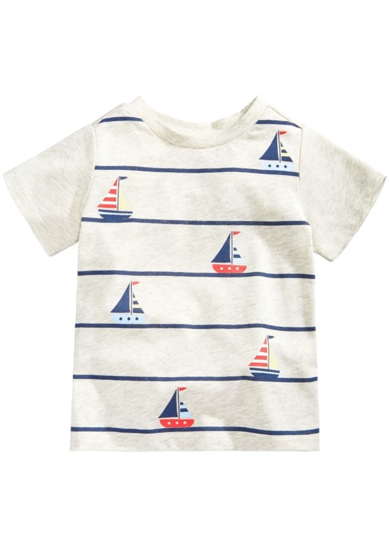 4a4dc55d1b92 First Impressions First Impressions Striped Boat-Print Cotton T ...