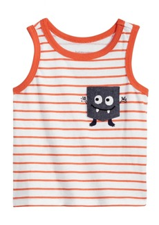First Impressions Striped Monster-Pocket Cotton Tank Top, Baby Boys, Created for Macy's