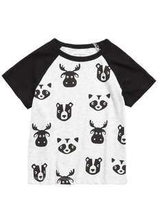 First Impressions Toddler Boys Animal-Print Colorblocked Raglan T-Shirt, Created for Macy's