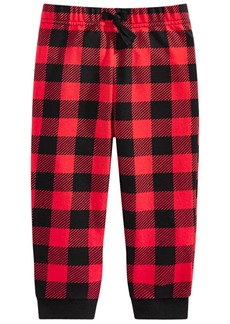 First Impressions Toddler Boys Buffalo-Plaid Jogger Pants, Created For Macy's
