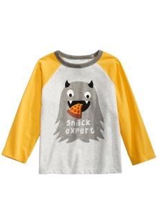 First Impressions Toddler Boys Colorblocked Raglan Snack Expert T-Shirt, Created for Macy's