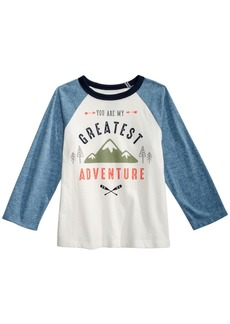 First Impressions Toddler Boys Cotton Colorblocked Raglan Graphic-Print T-Shirt, Created for Macy's