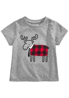 First Impressions Toddler Boys Elk Tie T-Shirt, Created For Macy's