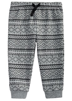 First Impressions Toddler Boys Fair Isle-Print Cotton Jogger Pants, Created For Macy's