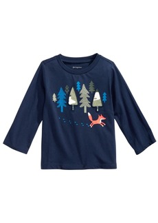First Impressions Baby Boys Cotton Forest & Fox T-Shirt, Created for Macy's