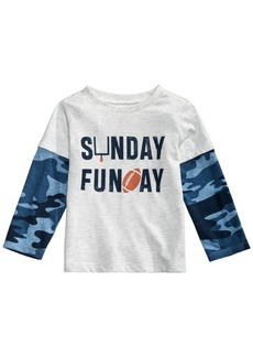 First Impressions Baby Boys Layered-Look Sunday Funday T-Shirt, Created for Macy's
