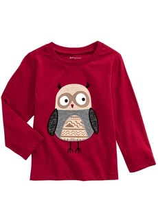 First Impressions Toddler Boys Owl-Print Cotton T-Shirt, Created For Macy's
