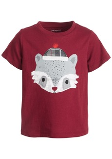 First Impressions Toddler Boys Short Sleeve Racoon Face Tee, Created for Macy's