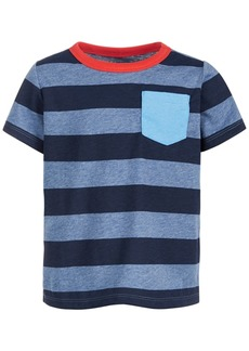 First Impressions Baby Boys Short Sleeve Tonal Blue Rugby Tee, Created for Macy's