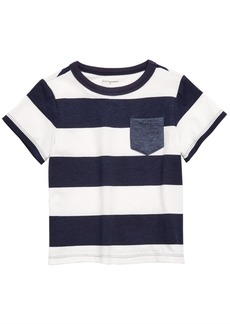 First Impressions Baby Boys Striped Rugby T-Shirt, Created for Macy's