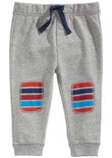 First Impressions Toddler Boys Striped Patch Jogger Pants, Created For Macy's