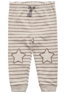 First Impressions Baby Boys Striped Star-Patch Jogger Pants, Created For Macy's