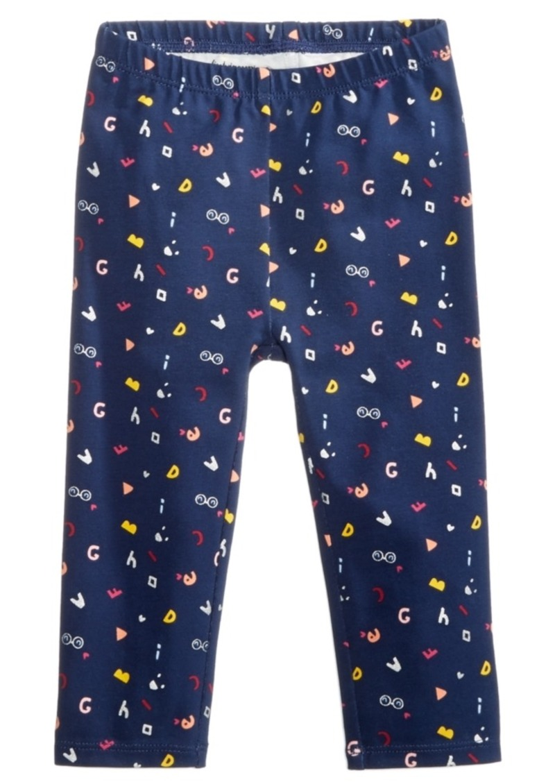 2ca995a43da41 First Impressions Baby Girls Abc Graphic-Print Leggings, Created for Macy's