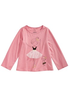 First Impressions Baby Girls Ballerina-Print Cotton T-Shirt, Created for Macy's