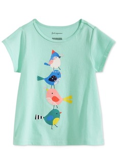 First Impressions Baby Girls Birds-Print Cotton T-Shirt, Created for Macy's