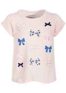 First Impressions Toddler Girls Bow Cotton T-Shirt, Created for Macy's