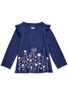 First Impressions Baby Girls Flower Border Tunic T-Shirt, Created for Macy's