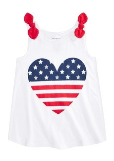 First Impressions Baby Girls Cotton Heart Flag Tank Top, Created for Macy's